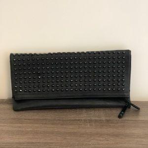 ALDO black studded clutch